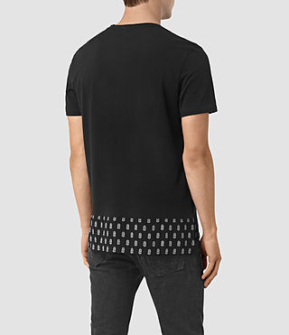 Uomo Solice Quill Crew T-Shirts (Vintage Black) - product_image_alt_text_2