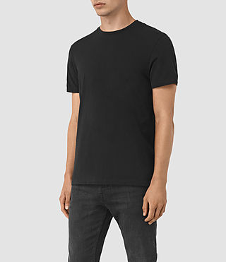 Uomo Solice Quill Crew T-Shirts (Vintage Black) - product_image_alt_text_3