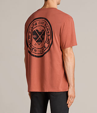 Men's Fraternity Switch Crew T-Shirt (Red) - Image 4