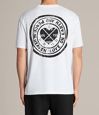 Hombres Fraternity Switch Crew T-Shirt (Optic White) - Image 2