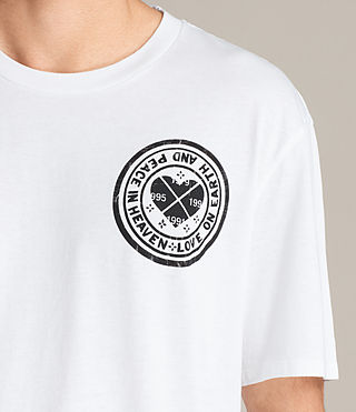 Hombres Fraternity Switch Crew T-Shirt (Optic White) - Image 3