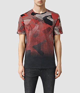 Mens Fragment Camo Crew T-Shirt (Vintage Black)