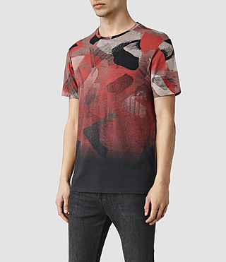 Mens Fragment Camo Crew T-Shirt (Vintage Black) - product_image_alt_text_2