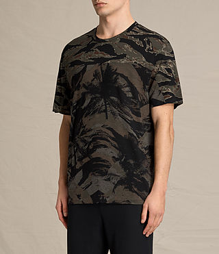 Hombres Camiseta Palm Camo (Black) - product_image_alt_text_2