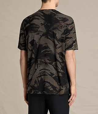 Hombres Camiseta Palm Camo (Black) - product_image_alt_text_3