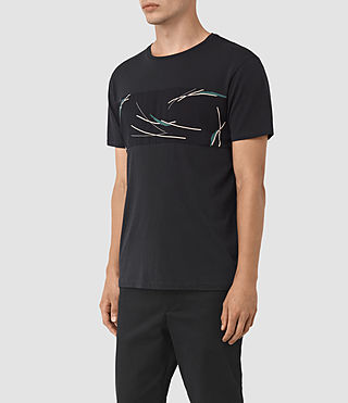 Uomo Moreland Twelve Crew T-Shirt (Black) - product_image_alt_text_2