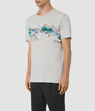 Hommes Canada Twelve Crew T-Shirt (Ash Grey) - product_image_alt_text_2
