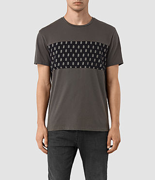 Hommes Quill Twelve Crew T-Shirt (Slate Grey)