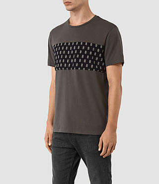 Mens Quill Twelve Crew T-Shirt (Slate Grey) - product_image_alt_text_2