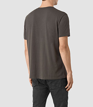 Mens Quill Twelve Crew T-Shirt (Slate Grey) - product_image_alt_text_3