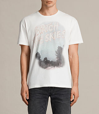Hombre Skies Crew T-Shirt (Chalk White) - product_image_alt_text_1