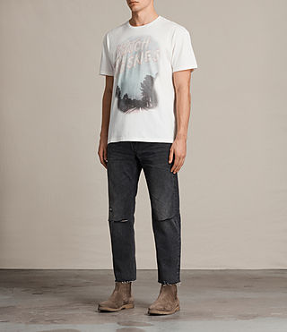 Mens Skies Crew T-Shirt (Chalk White) - product_image_alt_text_3