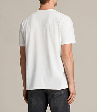 Mens Skies Crew T-Shirt (Chalk White) - product_image_alt_text_4