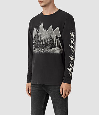 Hombre Alpina Long Sleeve Crew T-Shirt (Black) - product_image_alt_text_2