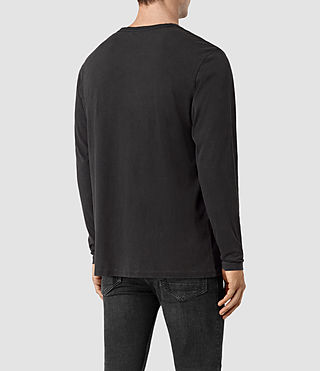 Hombre Alpina Long Sleeve Crew T-Shirt (Black) - product_image_alt_text_3