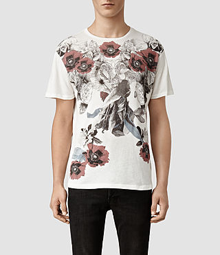 Mens Floraz Crew T-shirt (Chalk)
