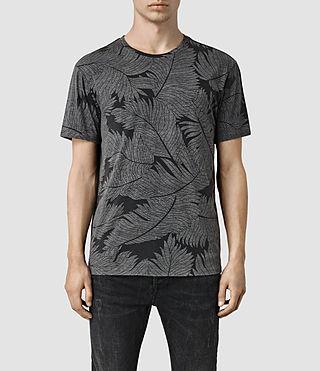 Mens Window Pane Crew T-Shirt (Vintage Black)