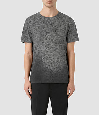 Mens Mono Guage Crew T-Shirt (VNTG BLK/LIGHT GRY)