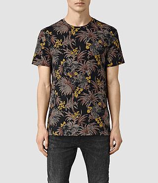 Mens Sensu Camo Crew T-Shirt (Vintage Black)