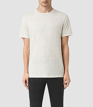 Mens Lace Scale Crew T-Shirt (Chalk/Washed Black)