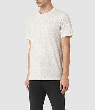Hombres Lace Scale Crew T-Shirt (Chalk/Washed Black) - product_image_alt_text_2