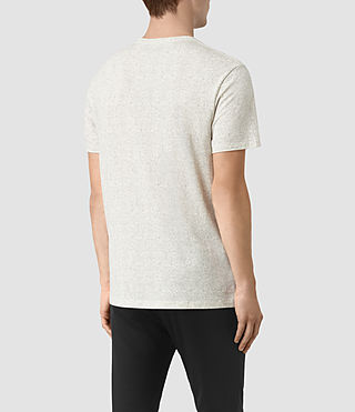 Hombres Lace Scale Crew T-Shirt (Chalk/Washed Black) - product_image_alt_text_3