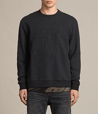 Hombres Svb Embroidered Crew Sweatshirt (Black)