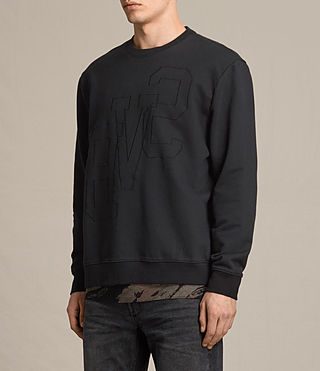 Men's Svb Embroidered Crew Sweatshirt (Black) - product_image_alt_text_2
