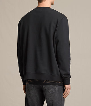 Men's Svb Embroidered Crew Sweatshirt (Black) - product_image_alt_text_3