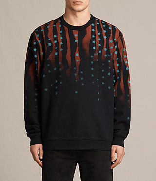 Uomo Stars And Bars Crew Sweatshirt (Vintage Black)