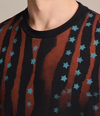 Mens Stars And Bars Crew Sweatshirt (Vintage Black) - product_image_alt_text_2