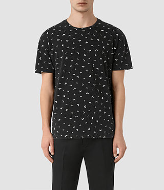 Men's Vee Crew T-Shirt (VNTG BLK/OFF-WHITE)