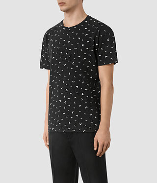 Hombres Vee Ss Crew (VNTG BLK/OFF-WHITE) - product_image_alt_text_2