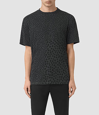 Men's Leopard Polka Crew T-Shirt (Charcoal)