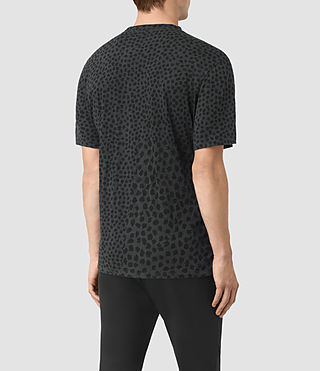 Hombres Camiseta Leopard Polka (Charcoal) - product_image_alt_text_3