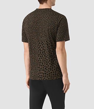 Mens Leopard Polka Crew T-Shirt (BATTLE BROWN) - product_image_alt_text_3