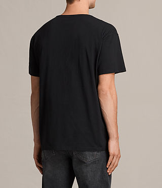 Men's Good Vibes Crew T-shirt (Vintage Black) - product_image_alt_text_4