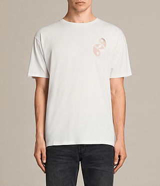 Mens Gardyin Crew T-Shirt (Chalk White) - product_image_alt_text_1