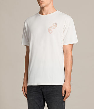 Mens Gardyin Crew T-Shirt (Chalk White) - product_image_alt_text_4