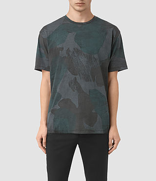 Mens Smock Camo Crew T-Shirt (INK NAVY)