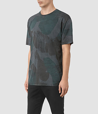 Hombres Smock Camo Crew T-Shirt (INK NAVY) - product_image_alt_text_2
