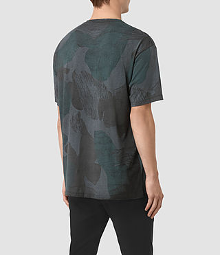 Hombres Smock Camo Crew T-Shirt (INK NAVY) - product_image_alt_text_3