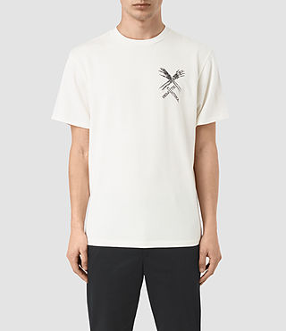 Mens Remote Crew T-Shirt (Chalk White) - product_image_alt_text_1
