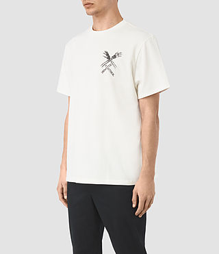 Mens Remote Crew T-Shirt (Chalk White) - product_image_alt_text_3