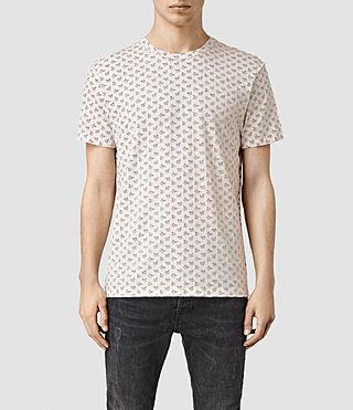 Mens Motif Floral Crew T-Shirt (Chalk White)