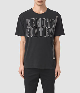 Mens Linear Control Crew T-Shirt (Vintage Black)