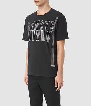 Mens Linear Control Crew T-Shirt (Vintage Black) - product_image_alt_text_2