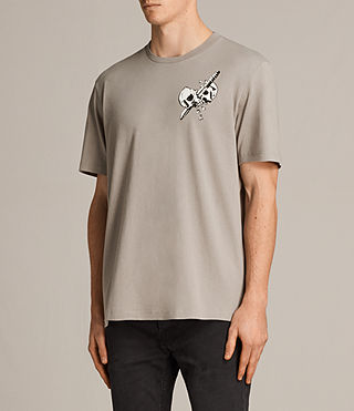 Hombres Splitter Crew T-Shirt (Putty) - Image 3