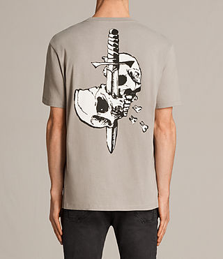 Hombres Splitter Crew T-Shirt (Putty) - Image 4