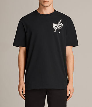 Herren Splitter Crew T-Shirt (Black) -